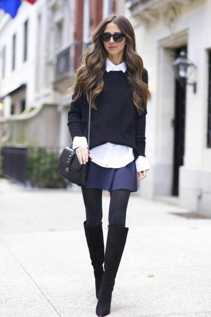 associer chaussures jupe courte